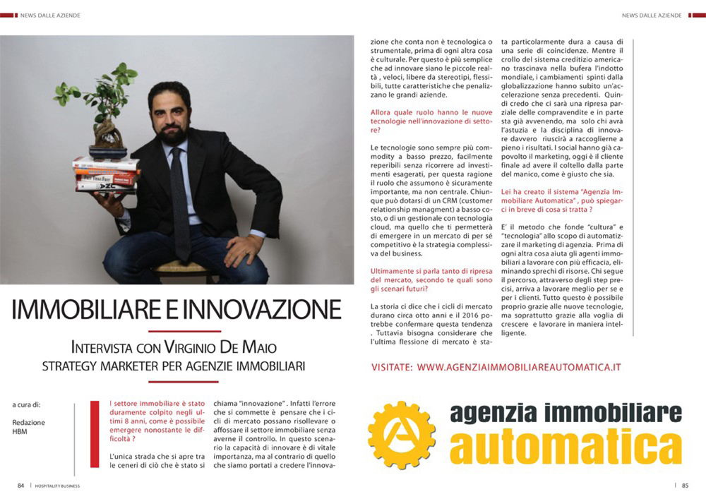 Intervista Virginio De Maio Hospitality Business Magazine