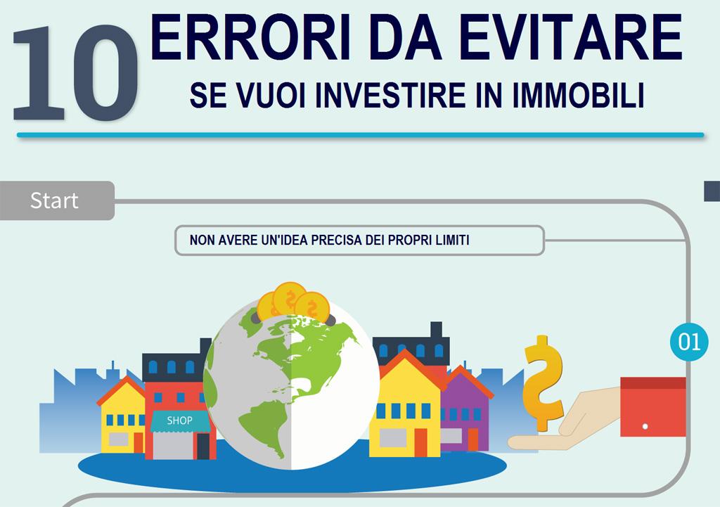 Infografica 10 errori da evitare se vuoi investire in immobili